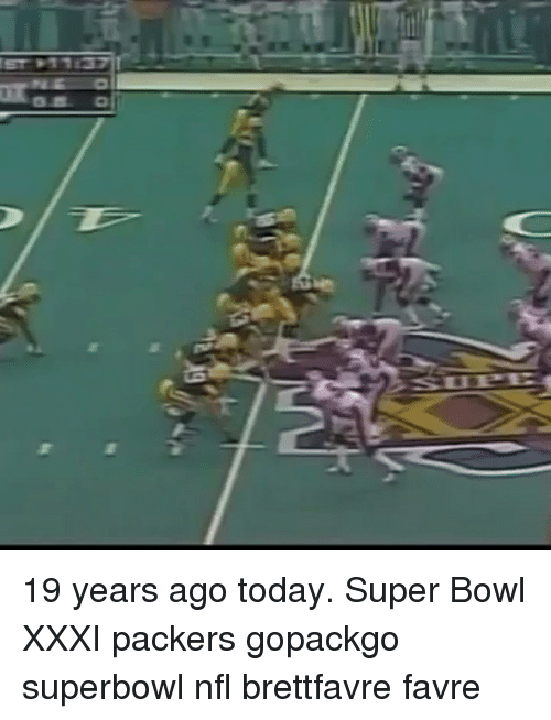 1f78f1380 137 19 Years Ago Today Super Bowl XXXI Packers Gopackgo Superbowl ...