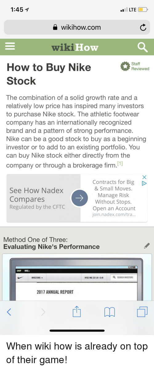f05a39546ff189 1451 LTE Wikihowcom Wiki Low Staff Reviewed How to Buy Nike Stock ...