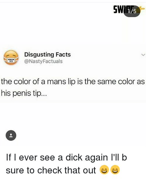 Color of dick