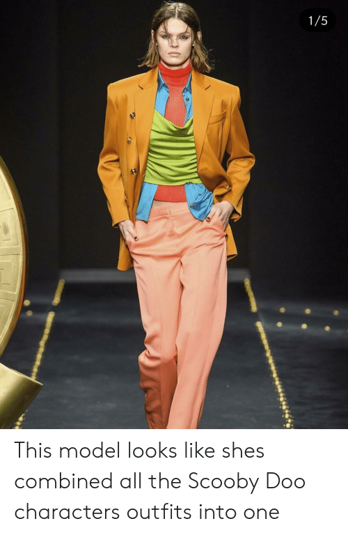 Scooby Doo, All The, and One: 1/5 This model looks like shes combined all the Scooby Doo characters outfits into one