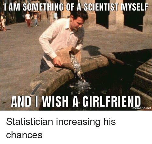 1 am something of a scientist myself and i wish a girlfriend