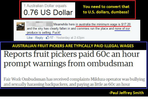 Ing Run And Work 1 Australian Dollar Equals You Need To Convert That