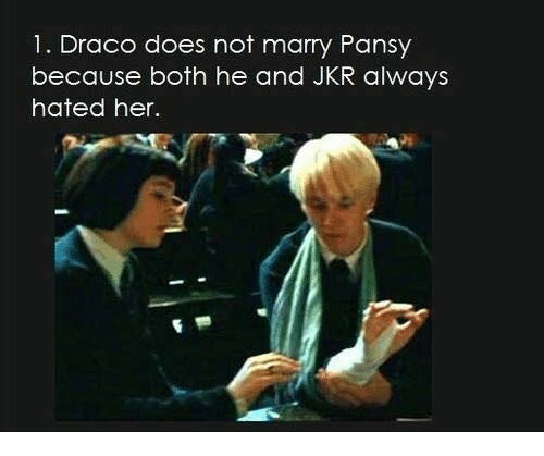 Was draco dating pansy
