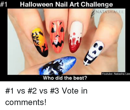 1 Halloween Nail Art Challenge Natasha Youtube Natasha Lee Who Did