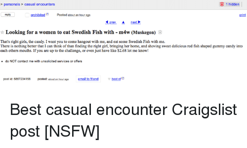 Casual sex on craigslist