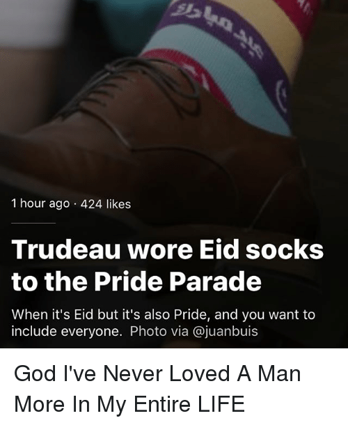 25950e03 1 Hour Ago 424 Likes Trudeau Wore Eid Socks to the Pride Parade When ...