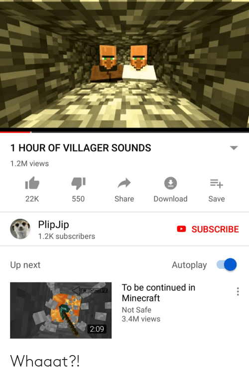 1 HOUR OF VILLAGER SOUNDS 12M Views Share Download 22K 550