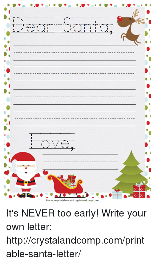1 i for more printables visit crystalandcompcom its never too early dank santa and 1 i for more printables visit crystalandcomp spiritdancerdesigns Images