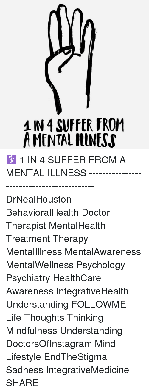 1 In 4 Suffer From A Mental Illness 1 In 4 Suffer From A Mental