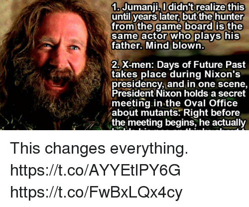 1 Jumanji Ididnt Realize This Until Years Later Butthe Hunter From