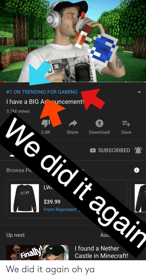 1 ON TRENDING FOR GAMING I Have a BIG Ar Uncement! We Did It