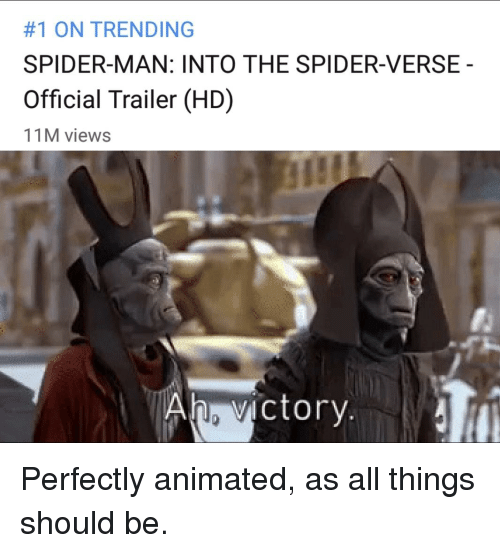 1 ON TRENDING SPIDER-MAN INTO THE SPIDER-VERSE Official