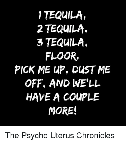 1 Tequila 2 Tequila 3 Tequila Floor Pick Me Up Dust Me Off