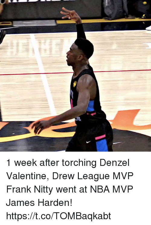 Sizzle: 1 week after torching Denzel Valentine, Drew League MVP Frank Nitty went at NBA MVP James Harden! https://t.co/TOMBaqkabt