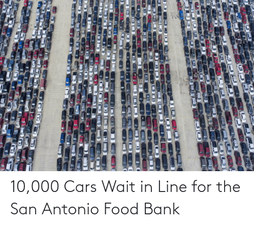 Cars, Food, and Bank: 10,000 Cars Wait in Line for the San Antonio Food Bank