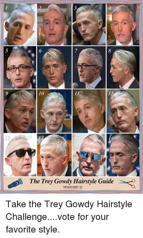 10 12 73 the Trey Gowdy Hairstyle Guide THI DAY SHOW Take the Trey ...