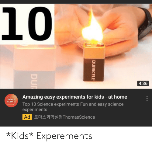 10 436 Amazing Easy Experiments for Kids - At Home THOMAS