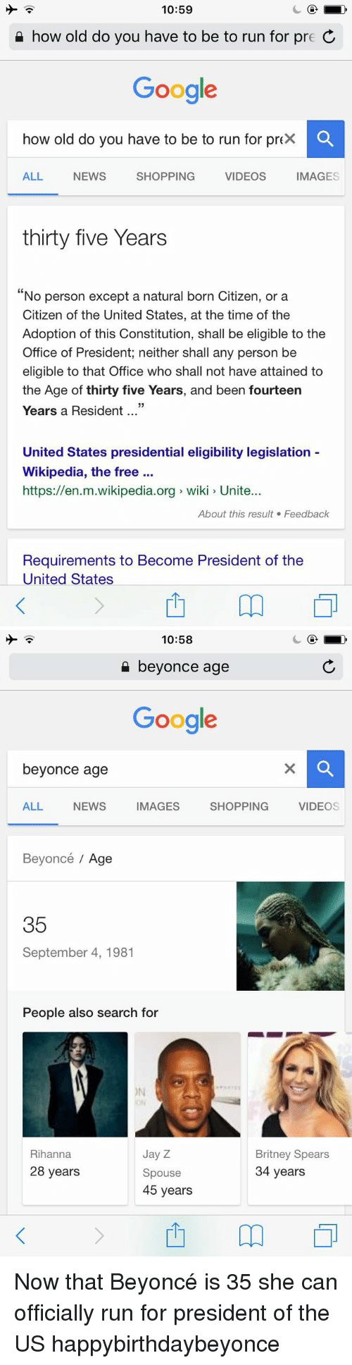 What age can you run for president