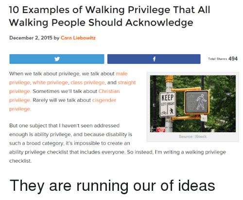 10 Examples Of Walking Privilege That All Walking People Should