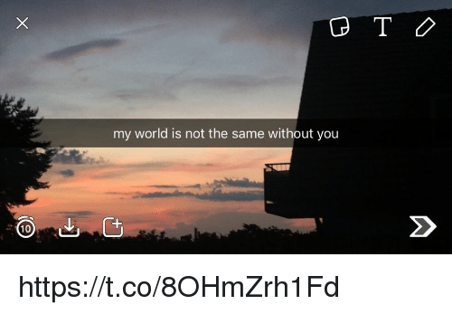 10 My World Is Not The Same Without You Httpstco8ohmzrh1fd Meme On