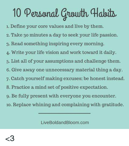 10 Personal Guouth Qabitz 1 Define Your Core Values And