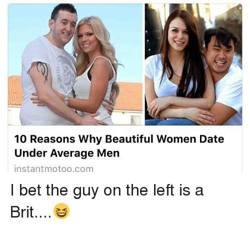 Average guy dating beautiful girl