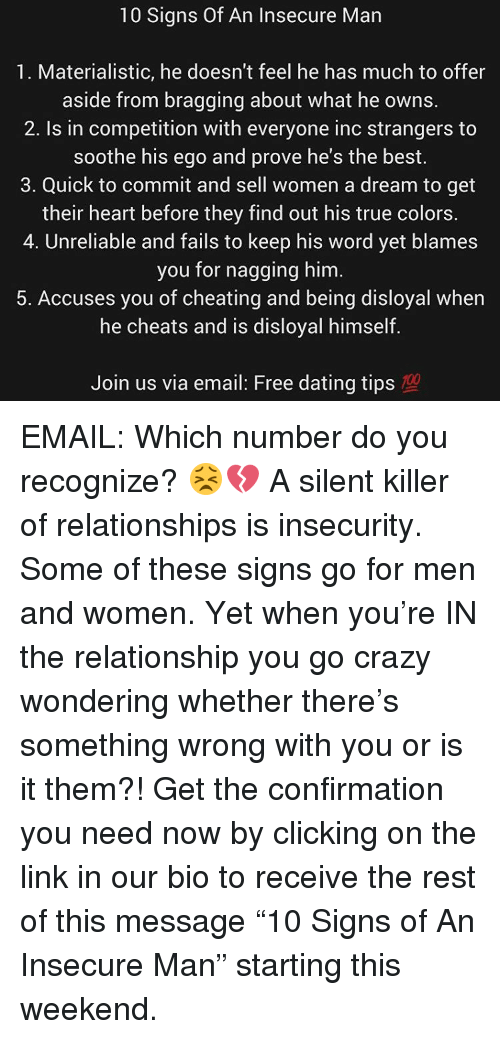 dating crazy signs
