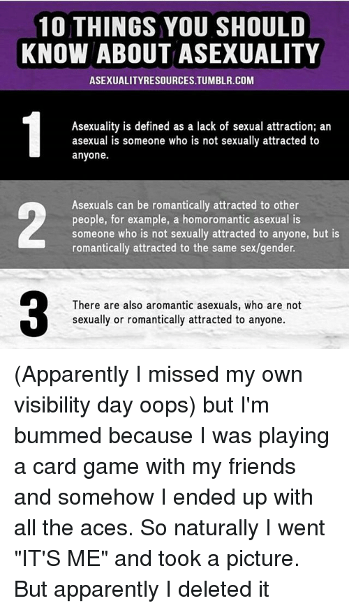 Apparently Friends And Memes 10 THINGS YOU SHOULD KNOW ABOUT ASEXUALITY ASEXUALITYRESOURCES