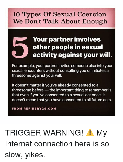 10 Types Of Sexual Coercion We Dont Talk About Enough Your Partner