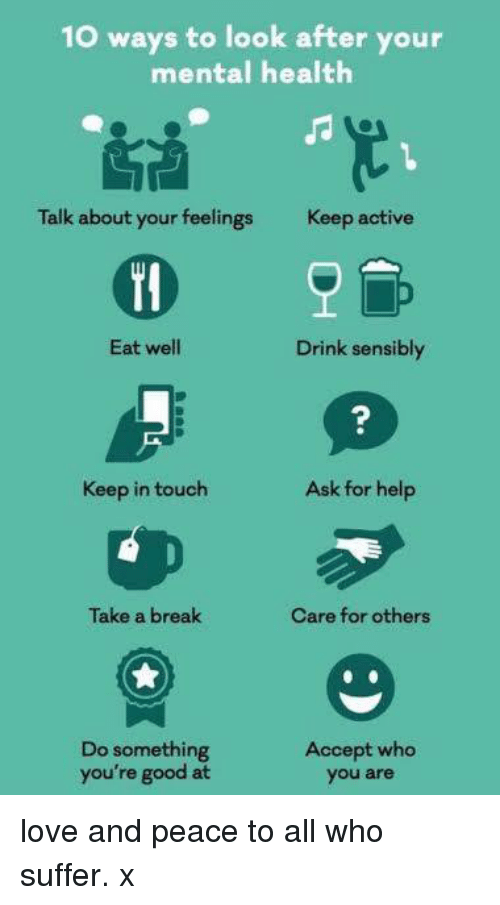 10 Ways to Look After Your Mental Health Talk About Your ...