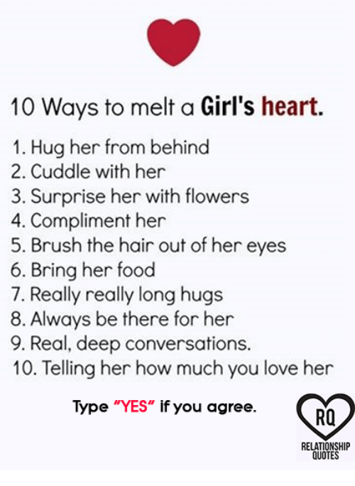 10 Ways to Melt a Girl\'s Heart 1 Hug Her From Behind 2 ...