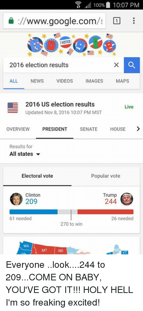 100% 1007 PM Wwwgooglecom IVOTED 2016 Election Results ALL NEWS ...