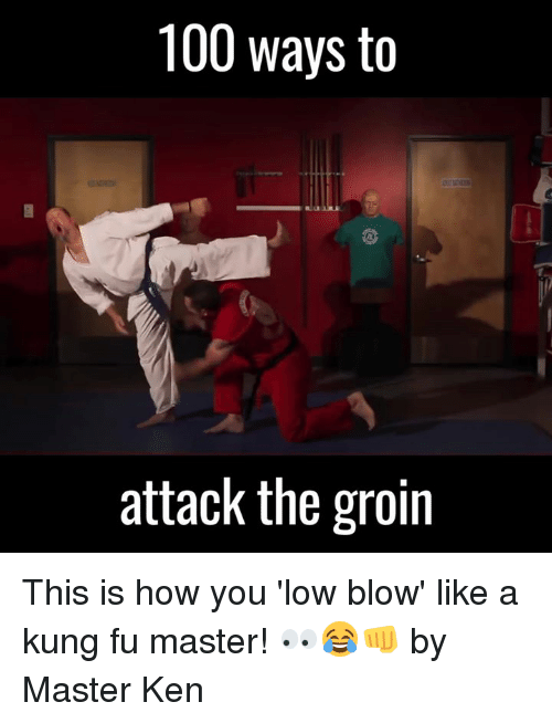 Dank, Ken, and Lowes: 100 ways to  attack the groin This is how you 'low blow' like a kung fu master! 👀😂👊  by Master Ken