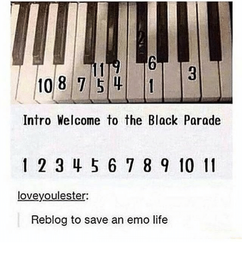 108 Intro Welcome To The Black Parade 2 34 5 6 7 8 9 10 11