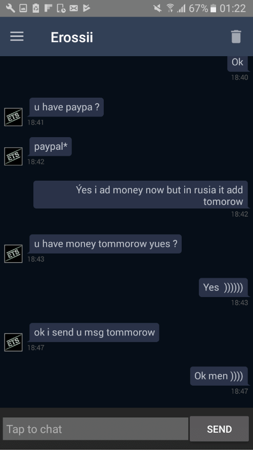 Chat with men for money
