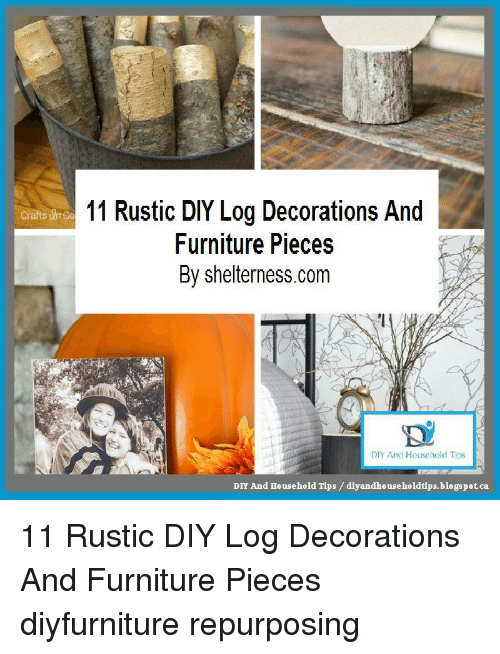 11 Rustic DIY Log Decorations and Crafts ulnCo Furniture Pieces by on