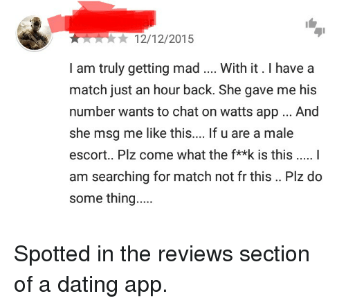 Dating app one hour