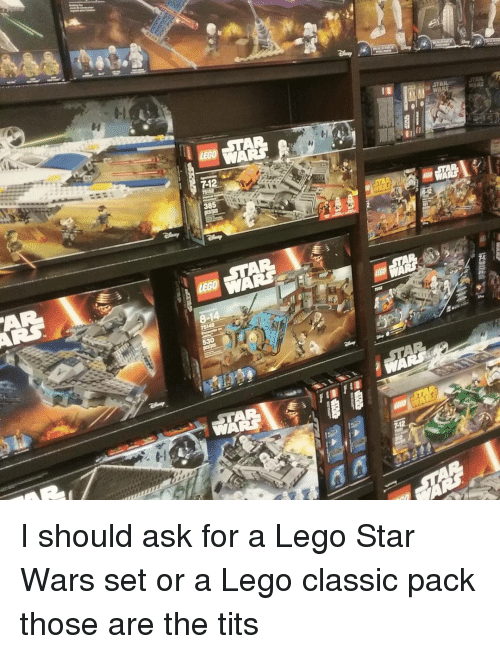 12 385 I Should Ask For A Lego Star Wars Set Or A Lego Classic Pack