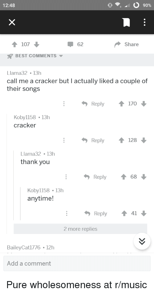 1248 90 1 107 62 Share Best Comments Llama32 13h Call Me A Cracker