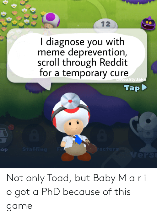 12 I Diagnose You With Meme Deprevention Scroll Through Reddit for a