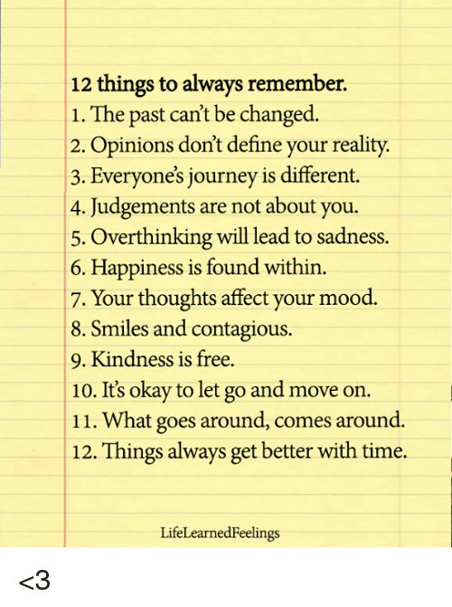 how to remember your past