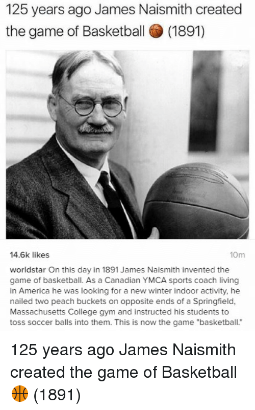 a brief history of basketball a game invented by dr james naismith Dr james naismith (1861-1949), the inventor of basketball, created an   naismith devised a game that played under 13 basic rules – using a ball and two .