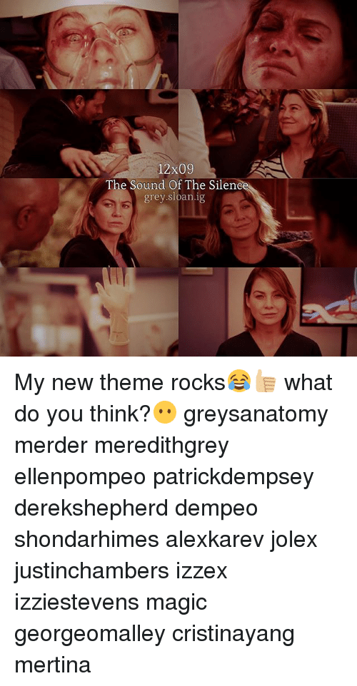 12x09 the Sound of the Silene Grey Sloan Ig My New Theme Rocks ...