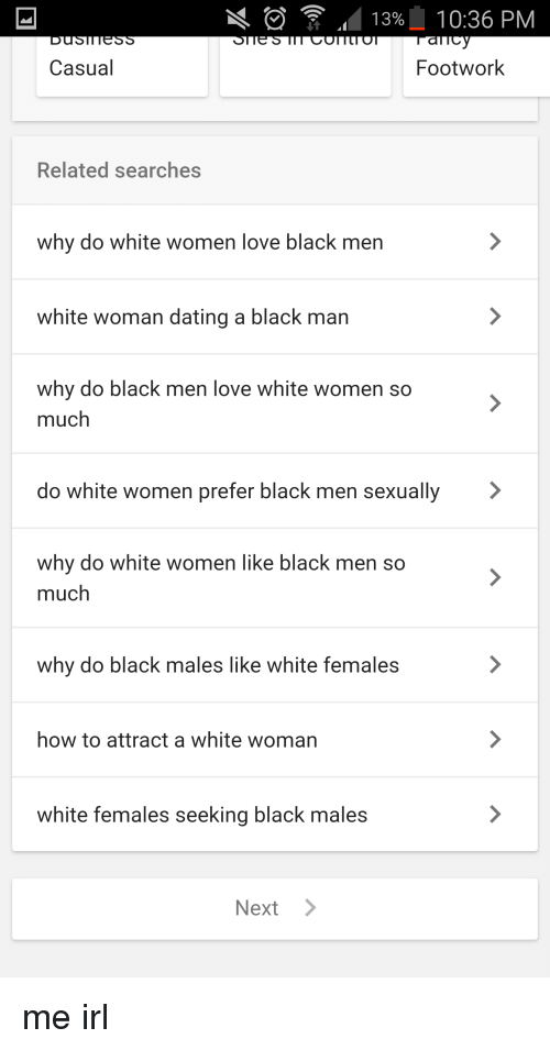 Black and white casual dating