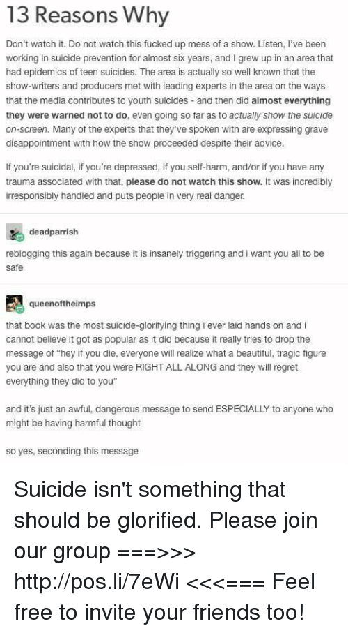 suicide reasons not to
