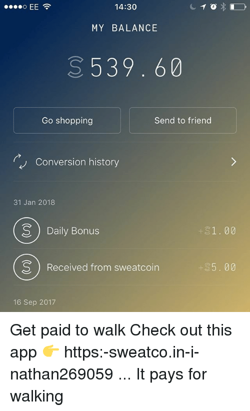 Paid to walk app