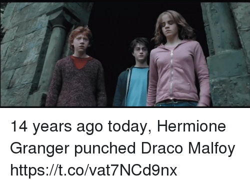 14 Years Ago Today Hermione Granger Punched Draco Malfoy