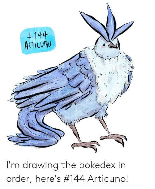144 AKTICUNO I'm Drawing the Pokedex in Order Here's #144