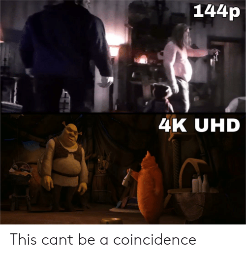 Coincidence, Can, and Uhd: 144p  4K UHD This cant be a coincidence