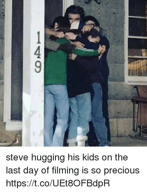 Precious, Kids, and Girl Memes: 149 steve hugging his kids on the last day of filming is so precious https://t.co/UEt8OFBdpR